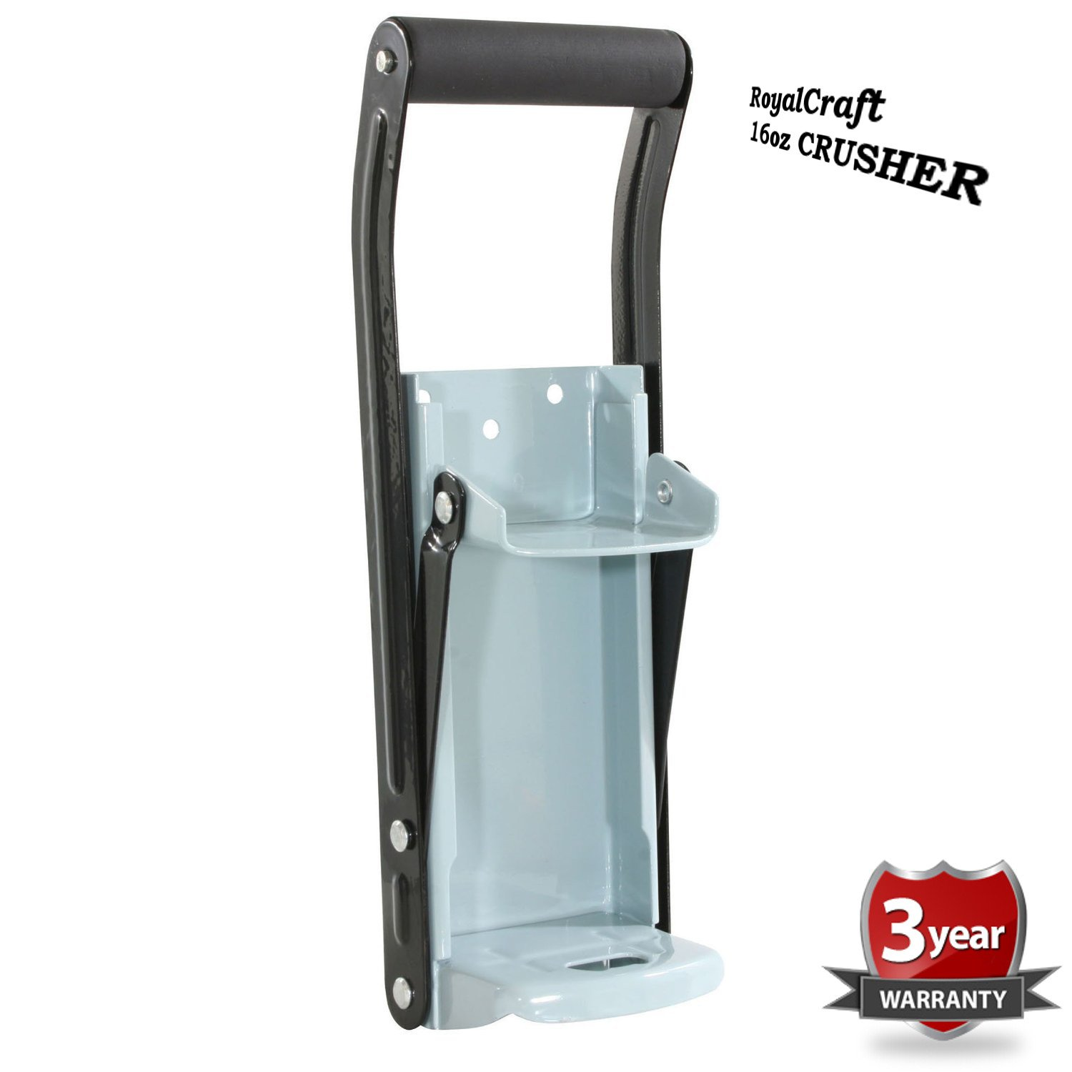 EASY CAN CRUSHER Heavy Duty 16oz Pull Aluminum Soda Beer Recycling