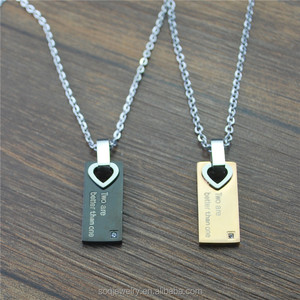 SSTN007 Simple And Romantic Design Stainless Steel Pendant For Lovers