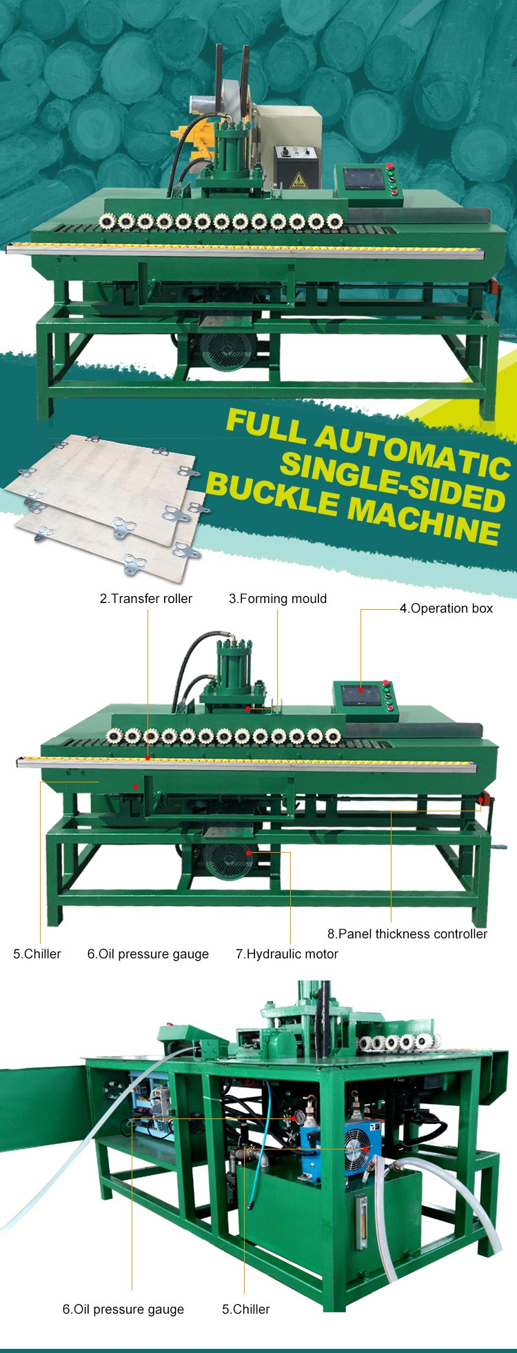 high quality plywood box making buckle machine