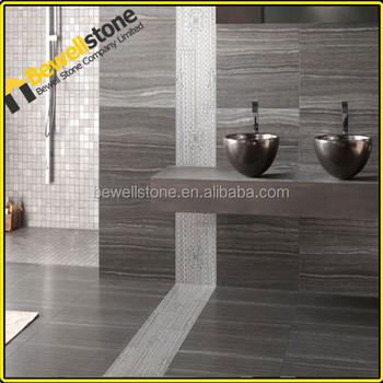 Honed Armani Marble Bathroom Tiles, Armani Grey Marble Bath Room Tiles