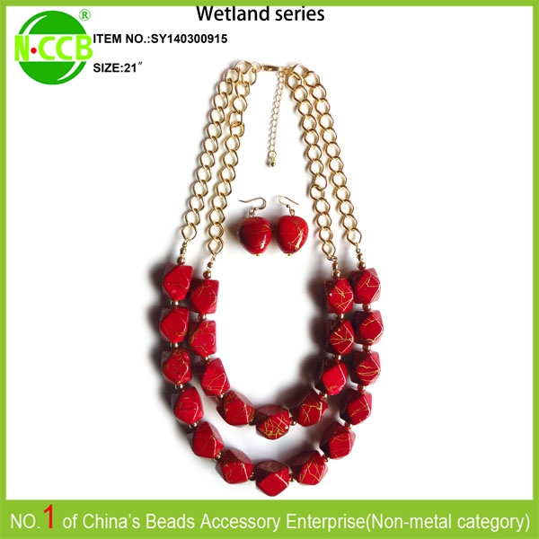 Red Bead Designer Necklace /handcrafted Jewellery China Supplier ...