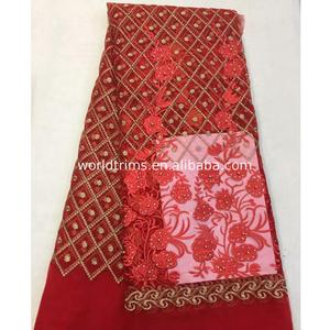 Fashion african lace fabrics in turkey embroidery cord fabric with great price