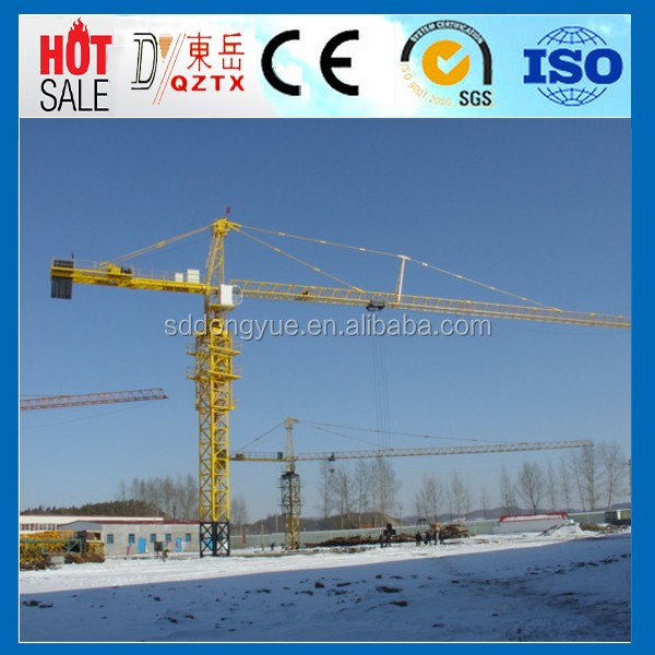 Hydraulic tower crane specification lifting capacity with ISO Certificate QTZ63 5010-4