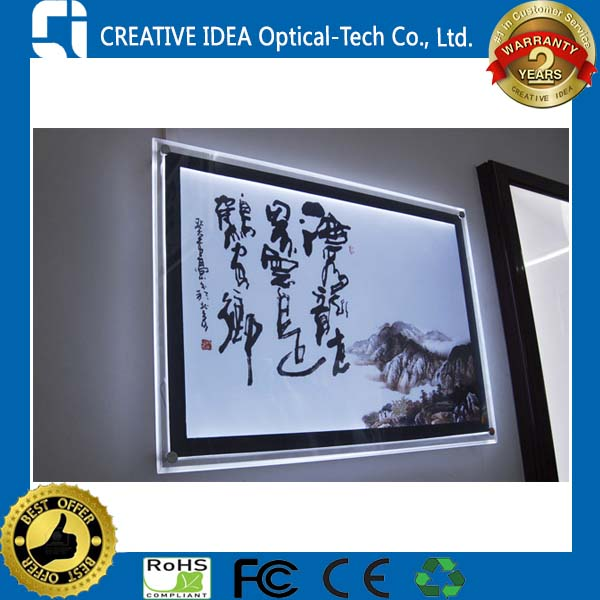 DIY Poster Lightbox Display
