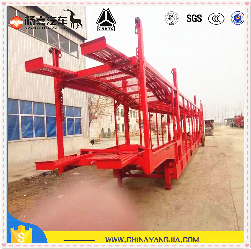 Solid durable transport double deck skeleton car carrier semi trailer
