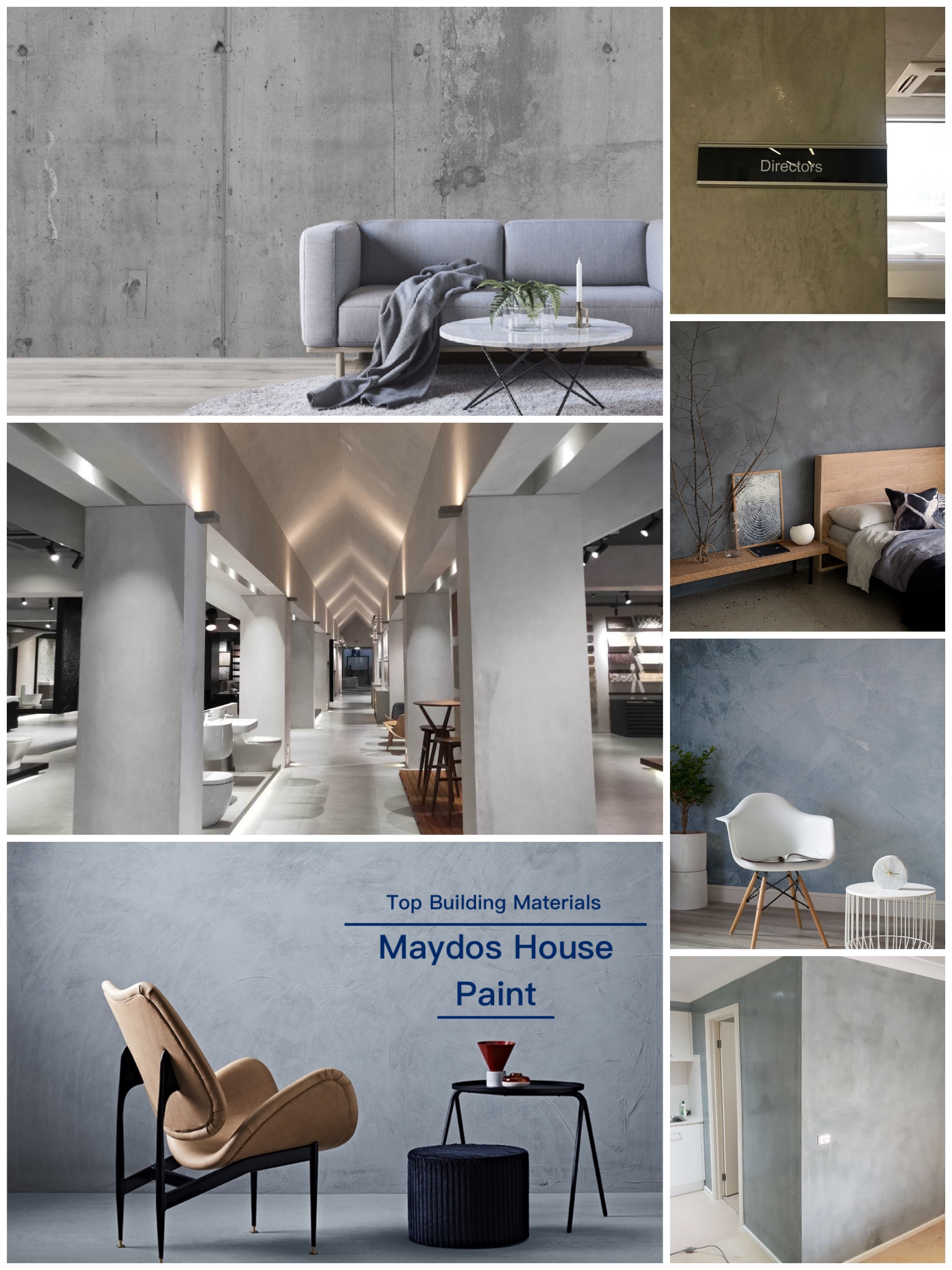 Maydos Grey Color Ancient Effect Decorative Texture Wall Paint