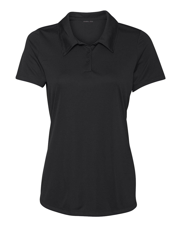 5fec9da8 Animal Den Women's Dry-Fit Golf Polo Shirts 3-Button Golf Polo's in 20