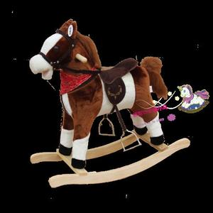 Plush Rocking Horse with Moving Mouth & Swing Tail(CE/EN71)