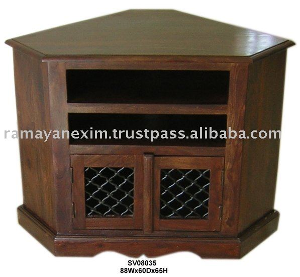 en bois meuble tv coin tv dvd unit meubles de salon meubles de maison indien en bois. Black Bedroom Furniture Sets. Home Design Ideas