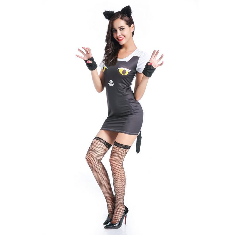 a3e9620035 Sexy di Trasporto libero Cat woman Costume Nuovo Caldo del Vestito di  Halloween Del Costume Adulto
