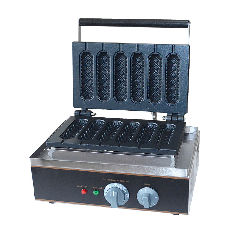 Electric Automatic Commercial Hot Dog Waffle Maker Machine - 6pcs <strong>Corn</strong>