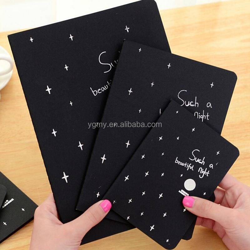 Notebook Diary Black Paper Notepad 16K 32K 56K Sketch Graffiti Notebook for Drawing Painting Office School Stationery Gifts