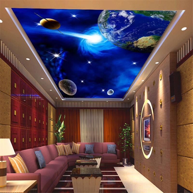 3d drei dimensionale tapete decke zimmerdecke schlafzimmer wohnzimmer zimmer hotel wandmalereien. Black Bedroom Furniture Sets. Home Design Ideas