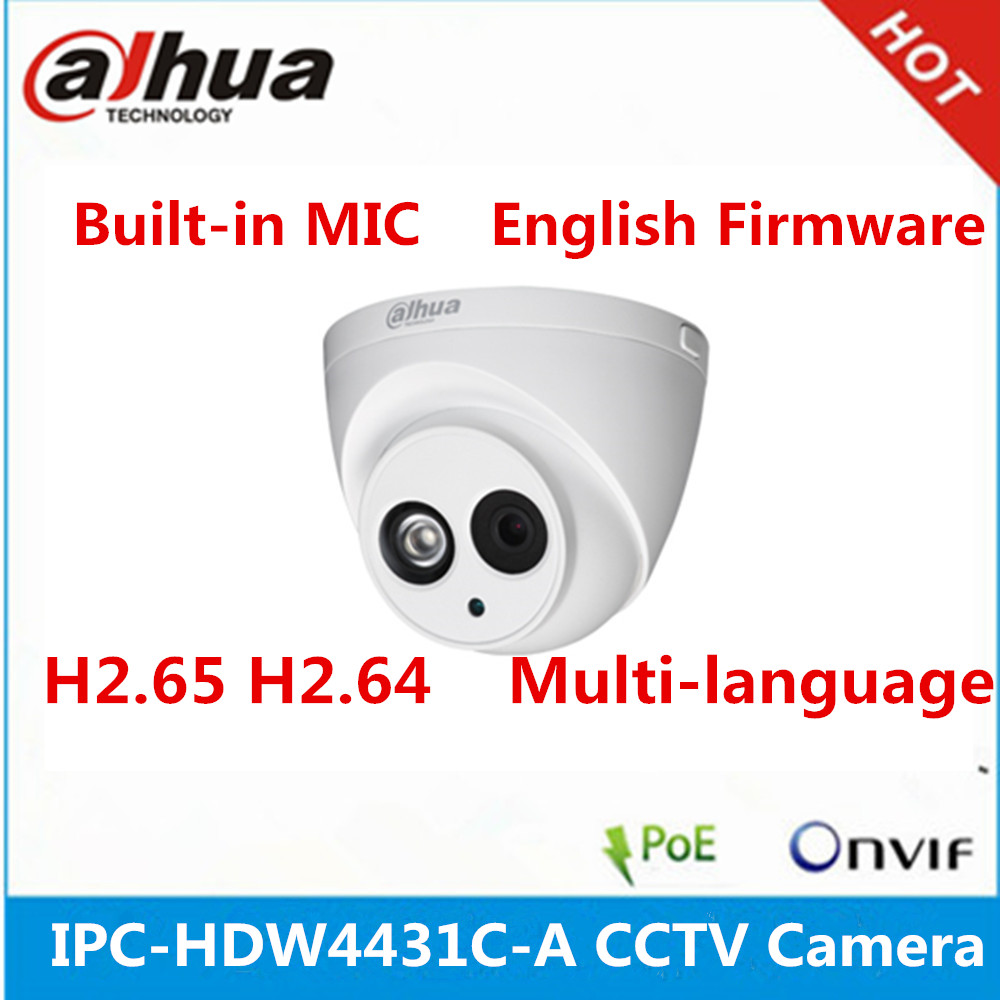 Dahua 4MP IR 30m dome <strong>camera</strong> IPC-HDW4431C-A built-in MIC poe <strong>camera</strong>