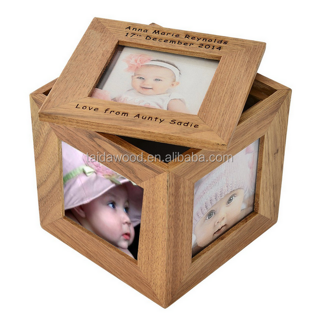 Wooden MULTI PHOTO PICTURE CUBE Frame