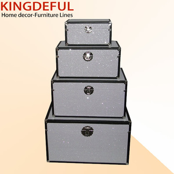 Glitter White Pu Leather Wooden Home Storage Trunk Box   Buy Home Storage  Box,Wooden Home Storage Box,Leather Wooden Home Storage Box Product On ...