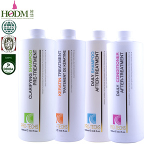 Chemical Ingredient& Cream Form Hair Straightening Shampoo And Conditioner, Keratin Hair Products For Hair After Treatment Care
