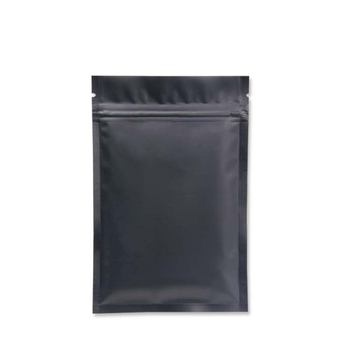 100pcs Food Storge Bags Metallic Mylar Ziplock Bags Flat Bottom Black Aluminum Foil Small Zip Lock Plastic Bags Wholesale