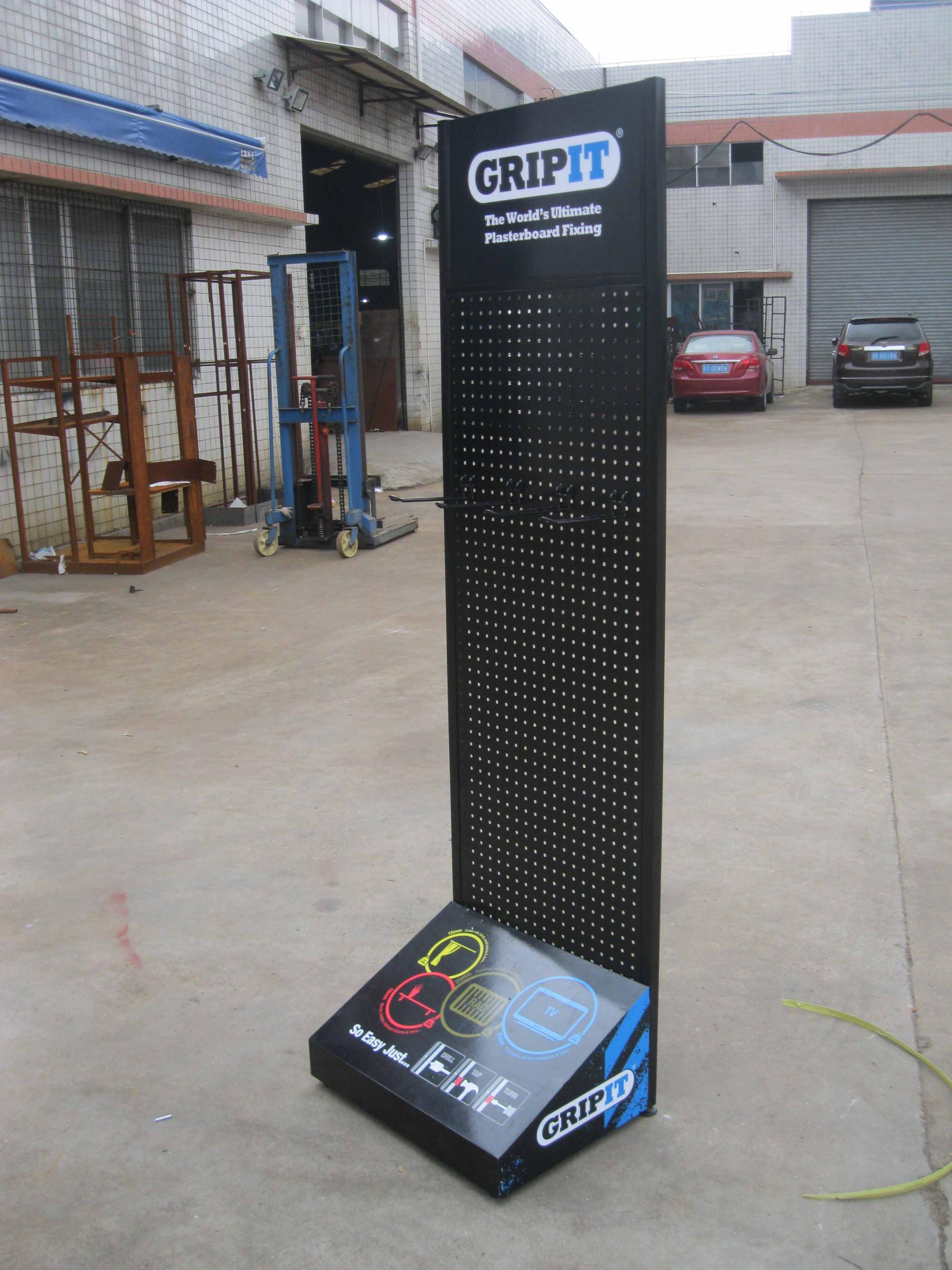 hot sales free standing retail custom merchandise metal pegboard display racks for retail store and shop