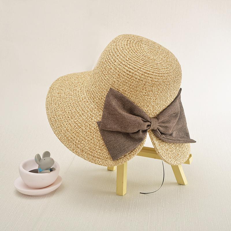 0542b709f49 COKK Women s Sun Hat Big Bow Wide Brim Floppy Summer Hats For Women ...