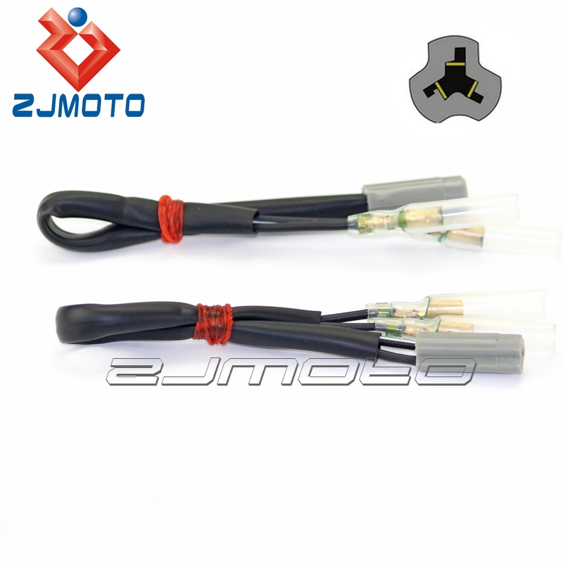OEM Turn Signal Y-Splitter Connectors Pair Fits Select Ducati KTM 2-Wire and Yamaha Motorcycles