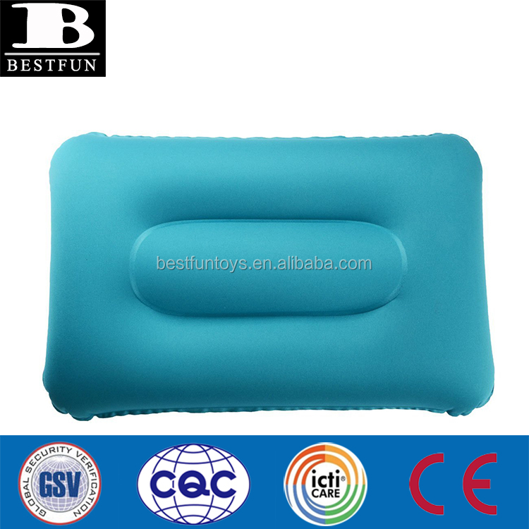 Soft TPU fabric Premium Inflation Outdoor Pillow Travel Pillow Car Pillow Suitable for Sofa Bed Chair Auto Seat