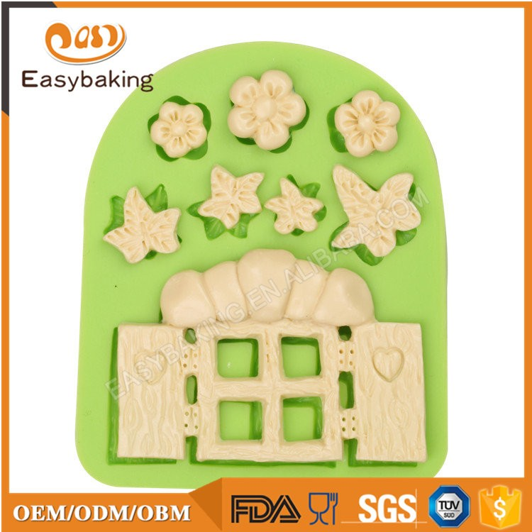 ES-4606 Cartoon Theme Silicone Fondant Cake Decorating Mold