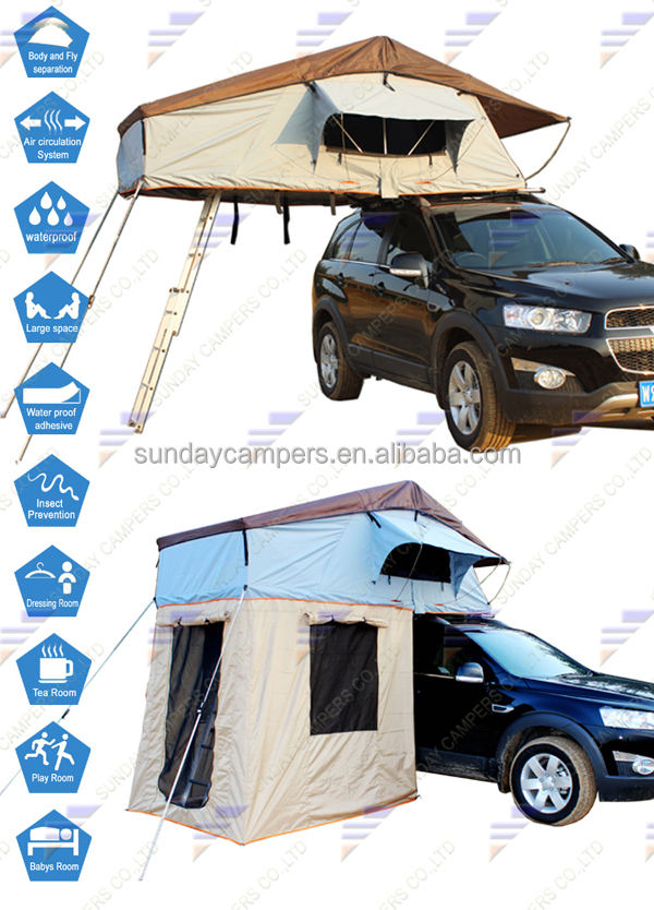 Roof Top Tent Suv Truck Roof Tent With Changing Room