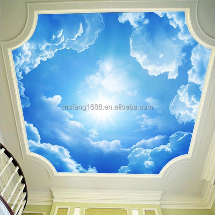 color brillante adecuado para techo decoracin matrimonio cielo techo techo tema nube papel tapiz