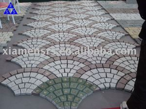 China green and red porphyry outdoor stone paving
