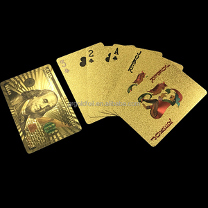 Factory customized durable gold foil personalized paper playing card