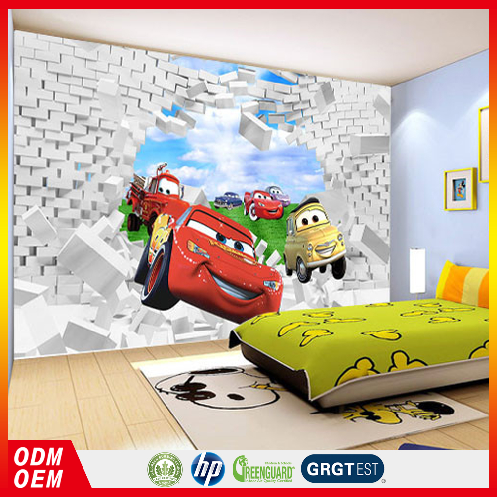 wall decals vinyl wall sticker cartoon car photo 3d stickers for children room