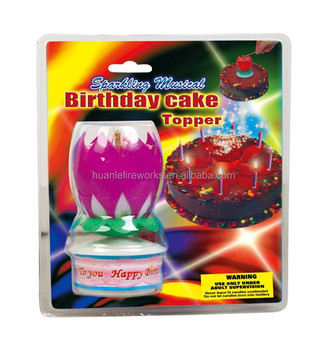 Lotus Musical Cake And Party Fireworks Birthday Candle Wholesale