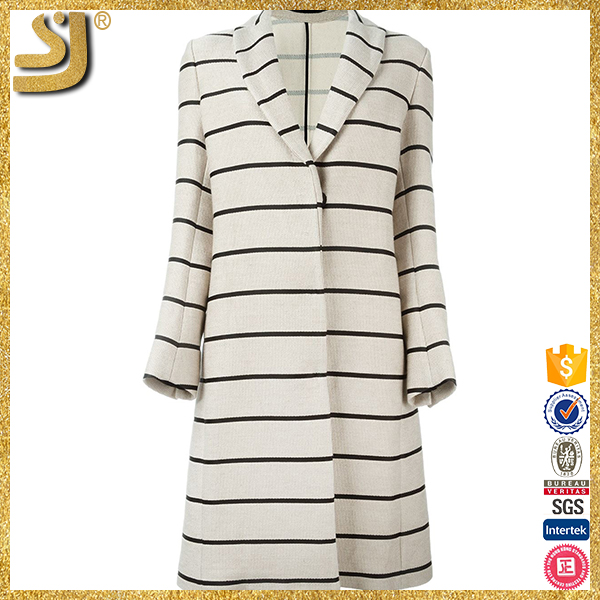 Formal newest brand name stripe women winter coats