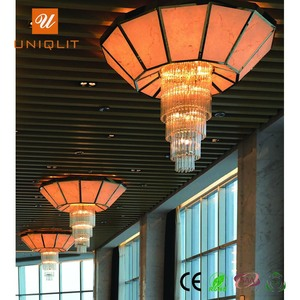 Hotel Large Simple Iron Resin Pendent Chandelier For Restaurants