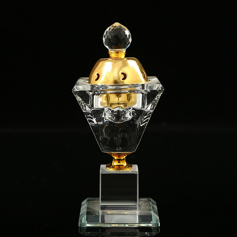 Wholesale new arrival chinese crystal portable incense burner holder