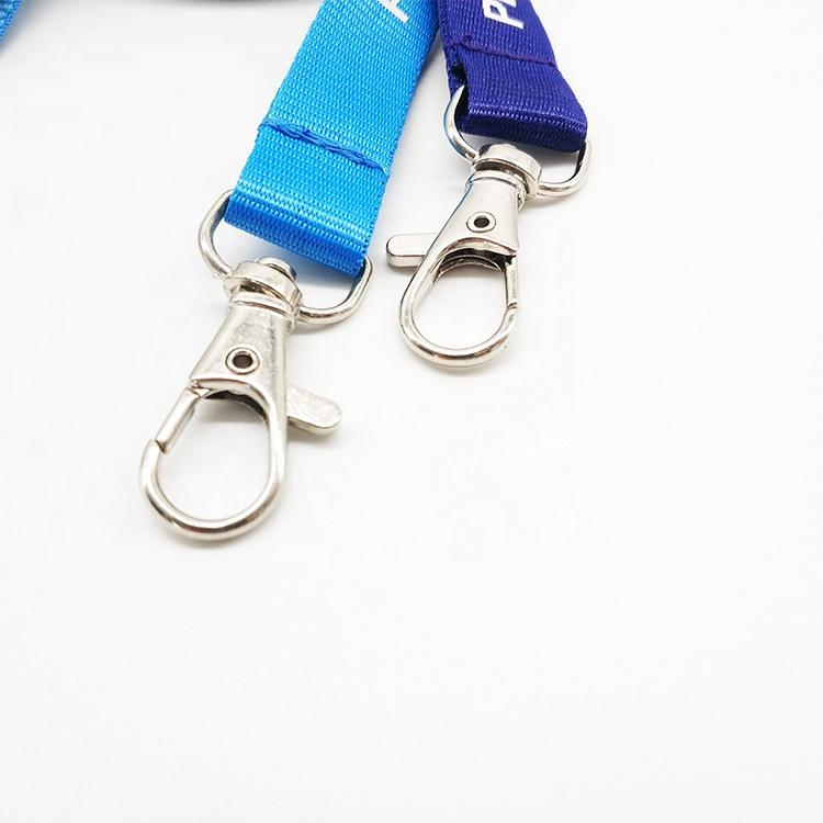ส่วนบุคคลราคาถูกไนลอนโพลีเอสเตอร์ key พวงกุญแจคอทอ sublimated ว่างเปล่าที่กำหนดเองพิมพ์เดี่ยวสายคล้องโลโก้