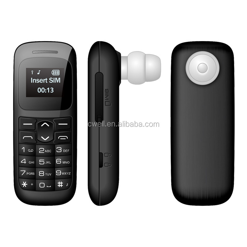 Ear-in celulares GSM900/1800MHz 0.66 Inch GSM Wearable Cellphone