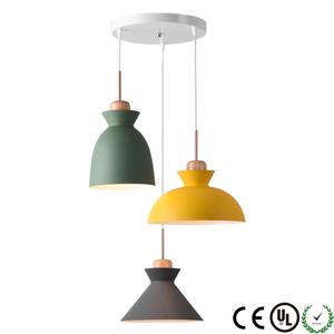 ARCHER Modern Style Luminaire Wood Pendant Lights for Restaurant Bar Cafe Aluminum Lamp M8027-3