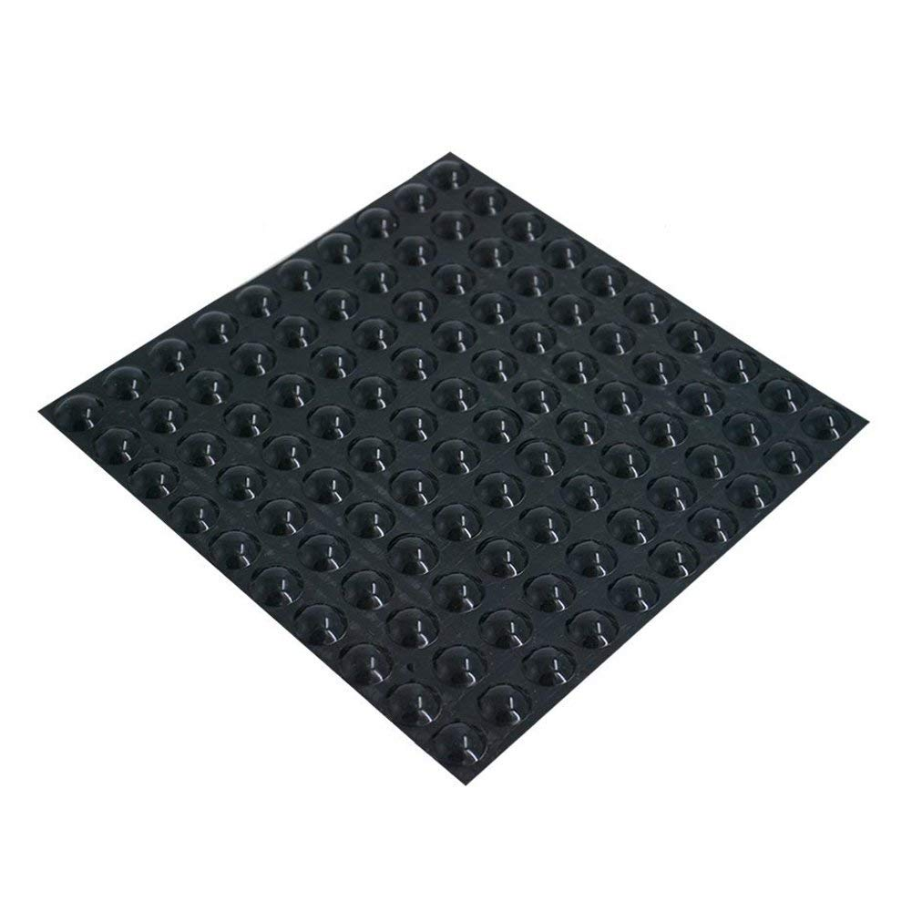 Rumfo Rubber Feet Adhesive Bumper Pads, 100 Pieces Self Stick Bumpers Sound Dampening Door Bumpers Cabinet Buffer Pads for Cabinet Doors, Drawers, Glass Tops, Picture Frames, Cutting Boards - Black