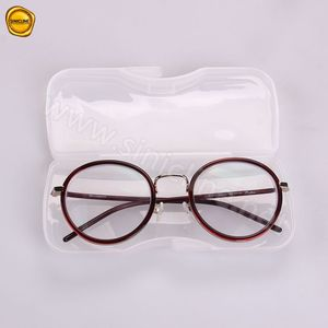 Sinicline designer easy-carry white plastic slim glasses case