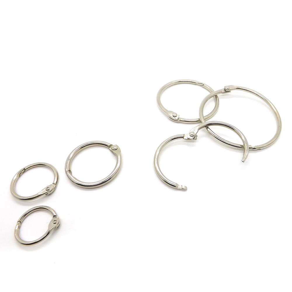 Book Hoop 20mm Binding Rings Binder Hoops Loose Leaf Ring Book Ring for File Paper Book