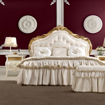 Luxury French Style Bed, Royal Solid Wood Bedroom Furniture Set ...