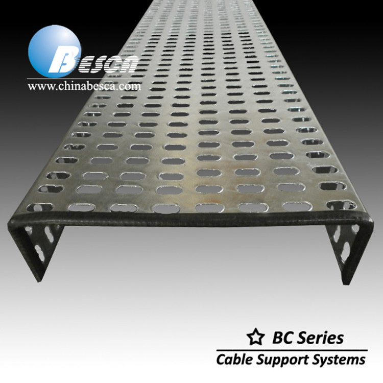 Hot Dip Galvanized Cable Tray With Rubber Protection