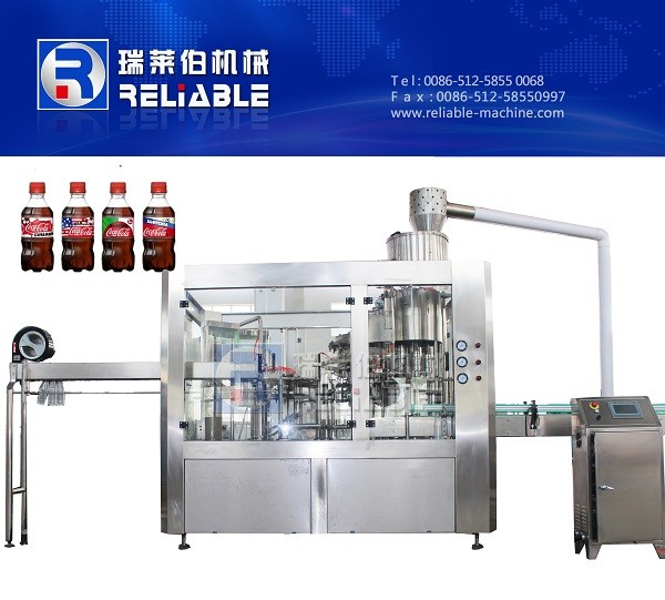 PET Bottle Carbonated Soda Water / Aerated Drink Filling Machine For Sale