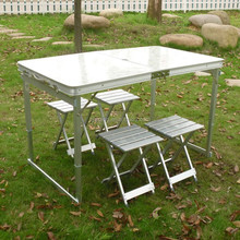 Portable outdoor foldable aluminum promotion table and chairs JF-15-12