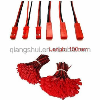 10pairs 100mm JST Connector 2 pin Plug 22AWG Silicone Wire Cable 10CM for lipo battery ESC motor