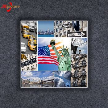 European famous landmark painting architecture Liberty goddess Islam Oil Paintings wall  Art On Canvas China