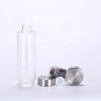 500ml natural crystal steel cover high jade crystal energy column crystal water cup bottle with sleeve