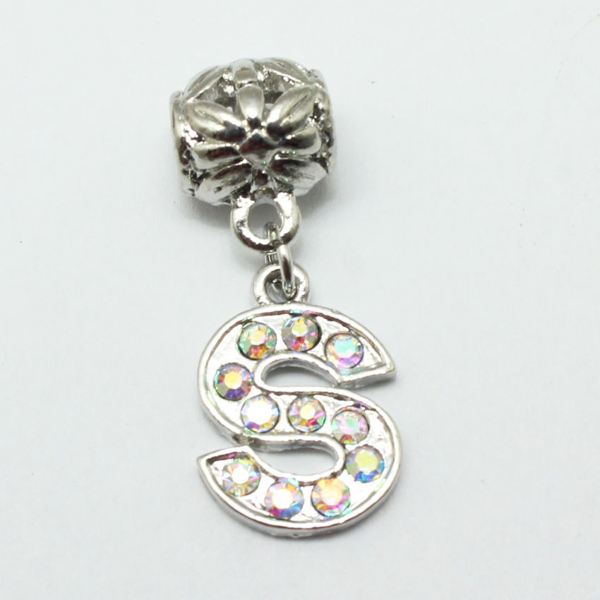 S Alphabet Pendant With Colorful Diamond Design Pendant S Alphabet ...